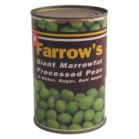 Picture of a can of Processed peas