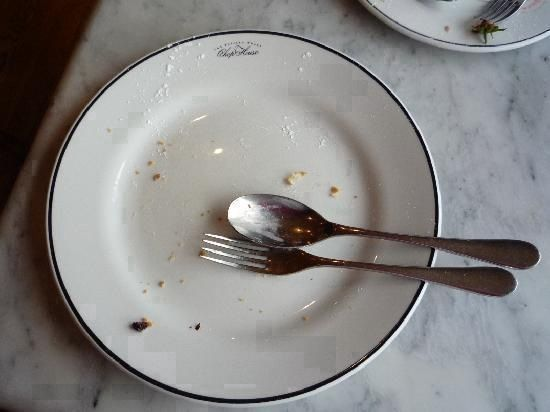 Reconstruction of a Scampi-less empty plate