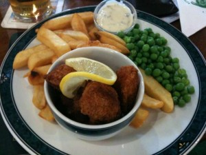 Scampi and Chips at Willow Valley